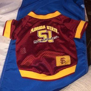 Florida State dog jersey/